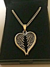 Job Lot 10 Angel Wings Heart Pendants & Silver Plated Necklaces 18 inch