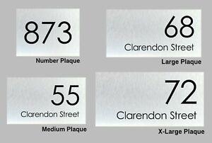 Custom Address Plaque Personalised House Number & Address Sign Brushed Aluminium