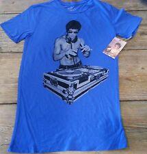 Bruce Lee DJ Royal Blue T shirt gungfu Scratch  mma dragon S, M, L, XL Blue Boat