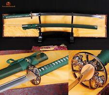 Hand Forged Japanese Sword Samurai Katana 1060 Steel Full Tang Blade Sharp Edge