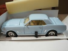 Mira 1965 Light Baby Blue Ford Mustang Convertible 1/18 HTF