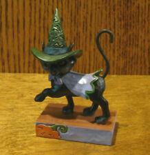 "Jim Shore Heartwood Creek #6006705 Walking Black Cat w/ Whitch'S Hat, Nib, 3.94"""
