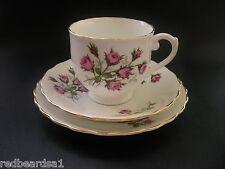 Kent Pink Roses Vintage Bone China Trio Tea Cup Saucer Plate England c1950s