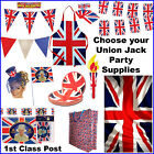 Union Jack Bunting Flags Royal Wedding British Party Flag Tableware Harry  Megha