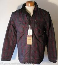 NWT Levis Mens 4-in-1 Reversible Bubble Jacket Vest 2XL Black/Burgundy eMSRP$140