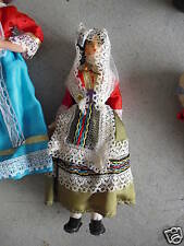 "Vintage Cloth Plastic Ethnic Girl Doll 6 3/4"" Tall Look"