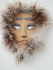 Inuit stoneware mask - by NC potter Helen Seebold
