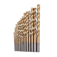 13pcs High Speed Steel HSS Titanium Coated Twist Drill Bits Set Shank 1.5-6.5mm