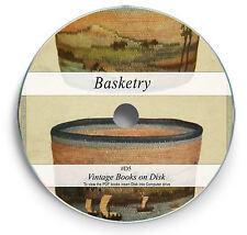 BASKETRY Rare Books on DVD Learn Basket Weaving Skills Weave Make Woven Craft D7