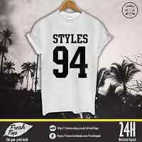Styles 94 Tumbrl T Shirt Harry Styles One Direction 1D BoysBand Music Top Malik
