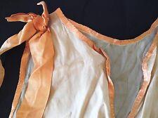 Vintage 20s 30s Top Blouse Apricot Silk Paris Couture Gatsby Downton Deco Ribbon
