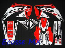Honda CRF450 2002-2004 NEW FLU PTS 3 Graphics Stickers Decals Motocross