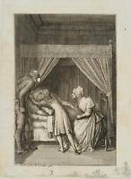 CHODOWIECKI (1726-1801). Hermann bei seinem Großvater; Druckgraphik 1