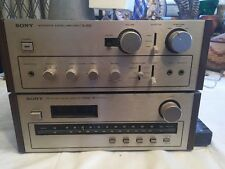 Vintage Sony TA-2650 Integrated Amplifier And Sony AM FM ST 2950 SD Receiver