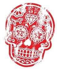 distresed antico rosso messicano Day of the Dead Sugar Skull motivo