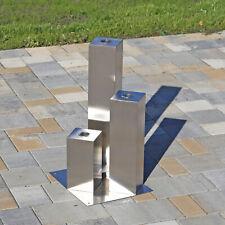 3 Säulen Edelstahlelement Skulptur Gartenbrunnen Edelstahl Wassersäulen Deko