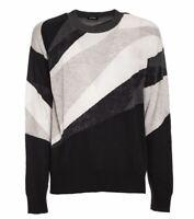 DIESEL Herren Pullover Pulli Sweater grau weiß anthrazit schwarz NEU ETIKETT!