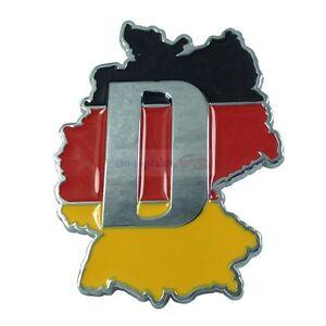 Germany DE Deutschland Metal Front Grille Grill Badge Emblem For Mercedes Benz