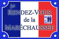 PLAQUE RUE Gendarmerie Marechaussée Police ALU 20X30cm