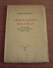 Charles Baudelaire 'Amoenitates Belgicae' - Manuscrit Inédit - Paris 1925 J.Fort