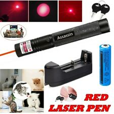 650nm 900Miles Red Laser Pointer Pen Visible Beam Lazer Pet Toy Battery+Charger
