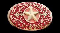 Pink Red Flower Star Western Metal Fashion Cowgirl Belt Buckle Buckles