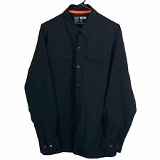 5.11 Tactical Series Snap Front Shirt Men's Medium Black Sleeve Pockets L/S