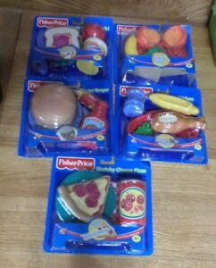 Fisher Price Mini meals Rare set of 5 burger, chicken, fruits, pizza and PB&J