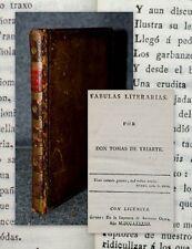 1792 Fabulas Literarias Tomas de Iriarte Yriarte Gerona
