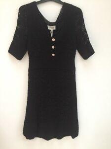 Alice Temperley Black Tea Tunic Crochet Lined Dress BNWT UK10 US6 RRP £495