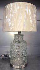 Stile marocchino con texture di imbottigliamento in vetro satinato metallo Cromato Stelo Biancheria Tonalità Nuovo