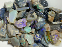 Australian Rough Opal LOTS OF BRIGHT COLOURS / FIRES - 350 CTS #175 Video!