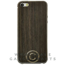 Toast Apple iPhone 5/5S/i5S Real Wood Stick-On Cover Combo Pack Plain Ebony