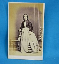 Victorian CDV Photo Carte De Visite Young Lady In Crinoline By Spencer Leicester