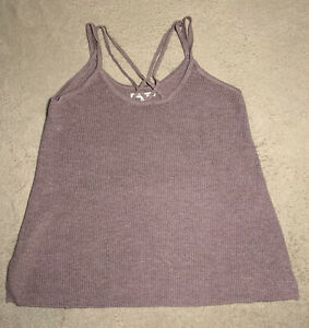 American Eagle Outfitters Purple Soft & Sexy Strappy Knit Tank Top Size Small