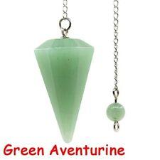 Gemstones Quartz Crystal Pendulum Healing Stone Reiki Chakra Chain Pendant Newly