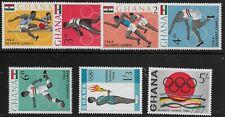 Ghana Scott #179-85, Singles 1964 Complete Set FVF MH