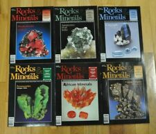 Rocks & Minerals Vol. 77 2002 6 issues the complete year