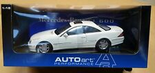 AUTOart 1/18 White Mercedes Benz CL 600 (70113) New In Box U.S. Seller