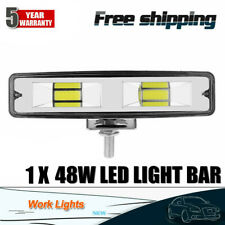 6Inch 48W 2LED Work Light Flood Beam Bar Car SUV Off Road Driving Fog Lamps NEW