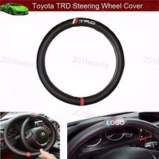 TRD Logo Carbon Fiber Car Steering Wheel Cover Sport Corolla Vios 380mm