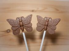 Butterfly/insect/Mothers day/gift lollipop/lollies milk Belgian chocolate x 10