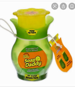 Scrub Daddy *Soap Daddy*Dual-Action Soap Dispenser In Gren /Yellow Uk Stock