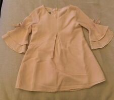 NEW Pastourelle By Pippa And Julie - Devyn Blush Crepe Dress 2T