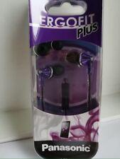 Panasonic RP-TCM190-V Fashion Earbud Earphones ErgoFit PLUS  RP-TCM190 Purple