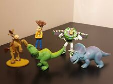 Disney Pixar Toy historia Figura Set-Woody-Buzz Lightyear-Rex-Bullseye