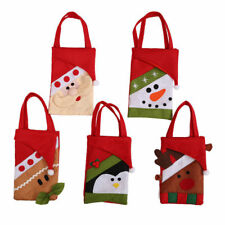New Christmas Santa Claus/Snowman/Elk Candy Gifts Bag Pouch Kids Xmas Home Decor
