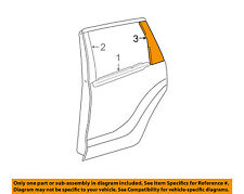 Scion TOYOTA OEM 04-06 xA Exterior-Rear-Applique Window Trim Left 7576652011