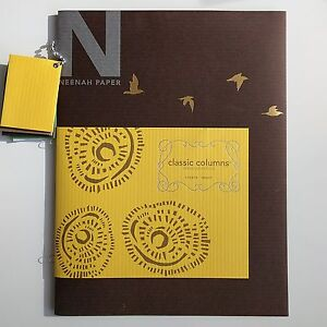"""CLASSIC COLUMNS Canyon Brown 100lb Cover, 8.5""""x11"""" [40/pk] Neenah Papers"""