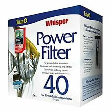 Tetra Whisper Power Filter for Aquariums, 3 Filters in 1 Up to 40-Gallons
